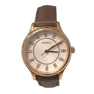 Fossil BQ1577 Rose Gold Brown Women's Watch